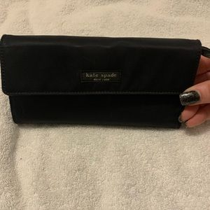 preowned authentic kate spade black wallet